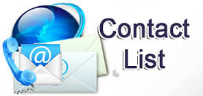 Click for a list of our Contacts